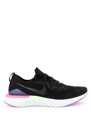 1a3a857d3cb4 Nike black Nike Epic React Flyknit 2 Shoes E0F62SHC557038GS 1
