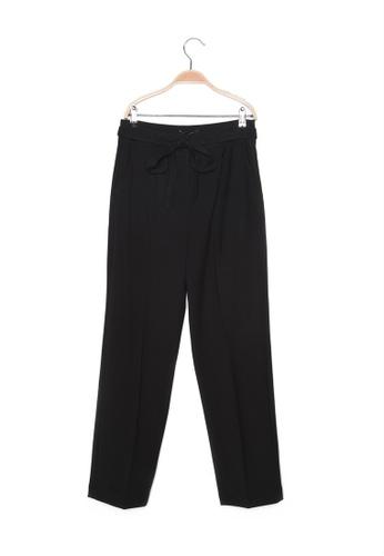 Trendyol black Tie Detail Pants AF955AA9BFF7C0GS_1