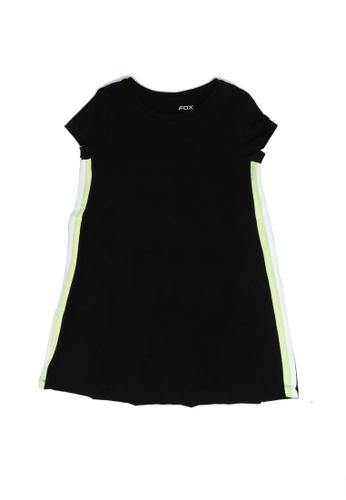 FOX Kids & Baby black Side Stripes Detail Dress 8F447KA78E53A2GS_1