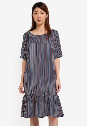 Selected Femme black Sfelisa 2/4 Boatneck Dress Ex SE157AA0T0DGMY_1