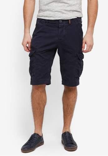 Superdry blue and navy Core Cargo Lite Shorts FC48DAAA6AFF1FGS_1