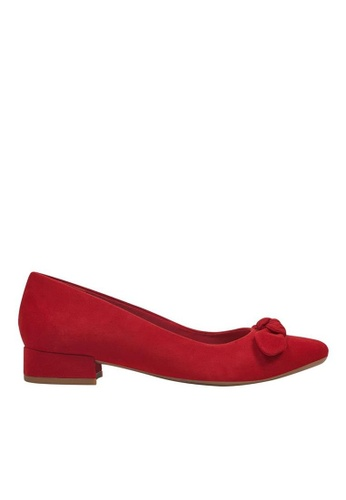 Easy Spirit red SECALASEE Suede Low Heel Dress Shoes A2AB5SH668C74BGS_1