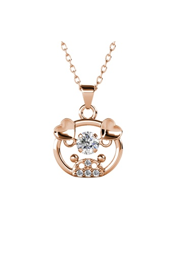 Her Jewellery gold 12 Dancing Zodiac Pendant (Pig) RG- Made with premium grade crystals from Austria 43682AC7D61469GS_1