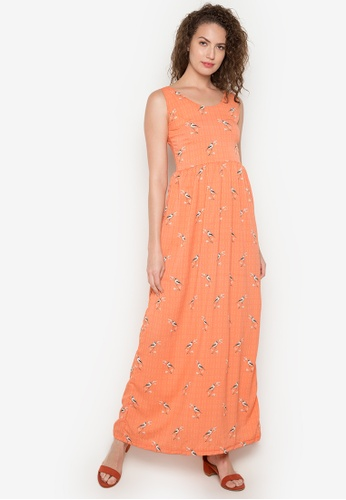 Purple Shore orange Cassandra Dress PU831AA0K4N2PH_1