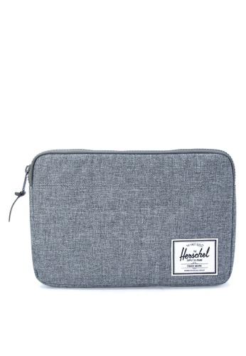 Herschel grey Anchor Sleeve For 12 Inch Macbook HE958AC0JPWGPH_1