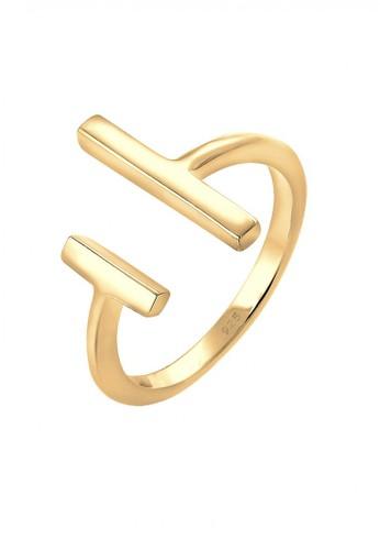 Elli Germany gold Perhiasan Wanita Perak Asli - Silver Cincin Geo Basic Lapis Emas Emas A68F0AC0A6E721GS_1