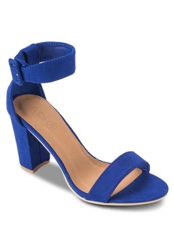 Sanesprit香港分店 Fran 扣環踝帶粗跟高跟涼鞋, 女鞋, 鞋
