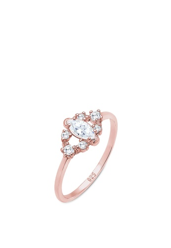 ELLI GERMANY pink Elli Germany Ring Classic Zirconia Gemstone 925 Silver Rose Gold Plated 2305AACB634DEBGS_1