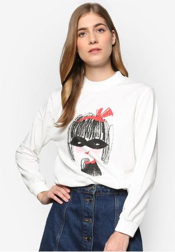 Pink Evil × Darren 聯名圖案esprit招聘設計長袖衫, 服飾, 外套