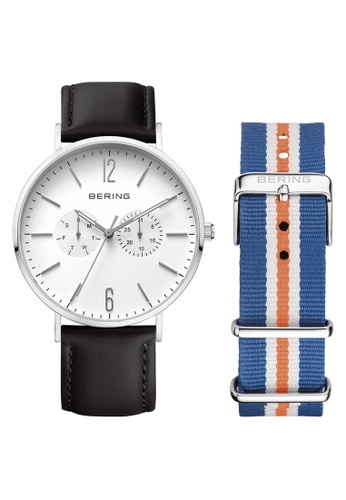 Bering black and multi and silver Classic 14240-404 White 40 mm Unisex Watch A5581AC3A00203GS_1