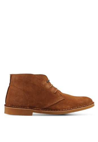 Selected Homme brown Royce Light Suede Derby Boots 2AC8CSHECC7F51GS_1