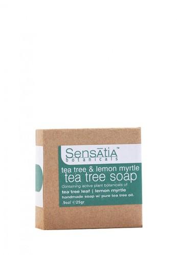 Sensatia Botanicals n/a Sensatia Botanicals Tea Tree & Lemon Myrtle Tea Tree Soap - 25 gr E90DABE11243BEGS_1
