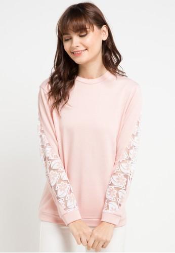 Gaff pink and multi Brukat Flower Sweater 69F1EAAC4809E1GS_1