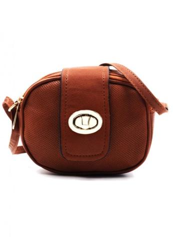 Vintage Paris brown Rue Cross Body Sling Bag VI567AC22HFXPH_1