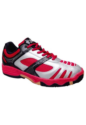 FANS red Fans R3R - Badminton Shoes Red Silver Gum FA469SH42NJHID_1