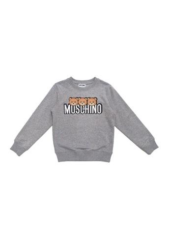 MOSCHINO BABY KID TEEN grey MOSCHINO TEENS SWEATSHIRT 6014DKA84D383AGS_1