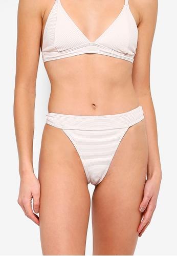 c4e1ab3da6e59 Buy MISSGUIDED Ribbed High Leg Tanga Bikini Bottom Online on ZALORA  Singapore