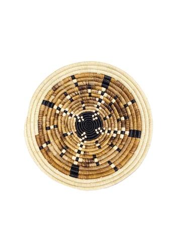 Propstation Woven Banana Bark Round Wall Art Basket Decor Jumbo - BB05 FBC45HL479B03BGS_1