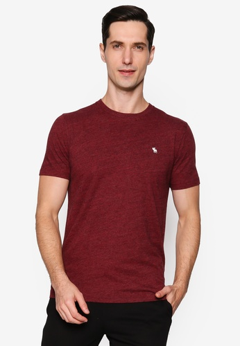 Abercrombie & Fitch red Short Sleeves Icon Crew Tee ABD29AA96FB914GS_1