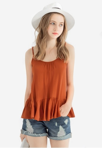 Sesura orange Fine Beauty Carefree Top 356F0AA7B41B06GS_1