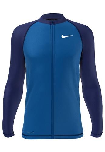 Nike blue Nike Swim Men's Long Sleeve Hydroguard - Blue 7E94BUSE1AEEBEGS_1