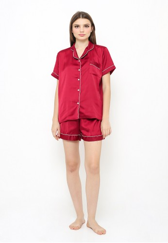 madeleine red Madeleine's Maroon Silk Short F9826AAC4F4571GS_1