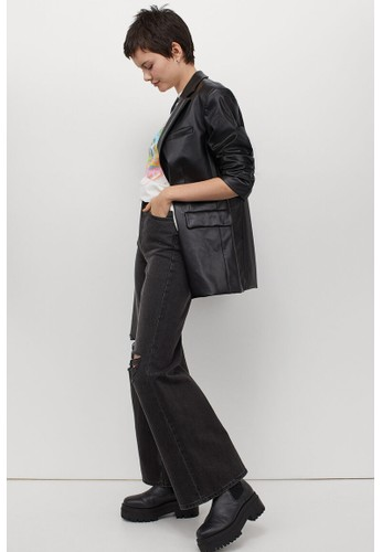 H&M black Wide High Jeans 739A2AA5454A50GS_1