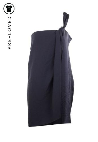 Diane Von Furstenberg black Pre-Loved diane von furstenberg One Shoulder Dress 96D15AA5EF4FD2GS_1