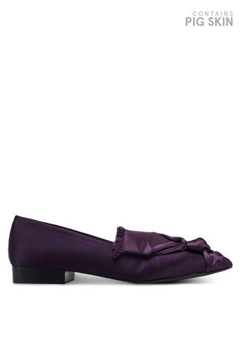 E8 by Miista 紫色 蝴蝶結綢緞樂福鞋 1E669SH50E3EA9GS_1