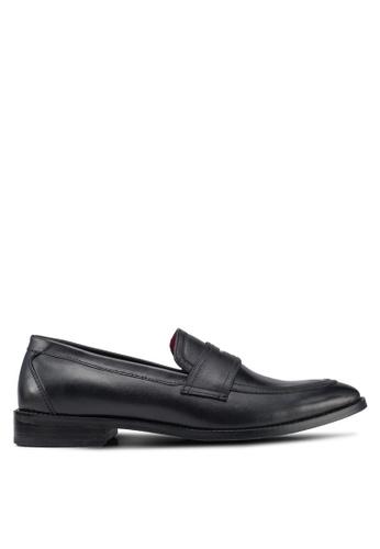 Acuto black Leather Loafers AE201SHB0885E1GS_1