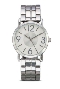 Numeric Metal Round Face Chain Watch