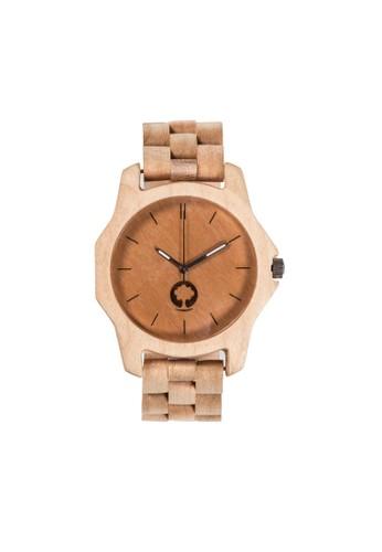 柔zalora 台灣和系列象牙白楓木錶, 錶類, 時尚型