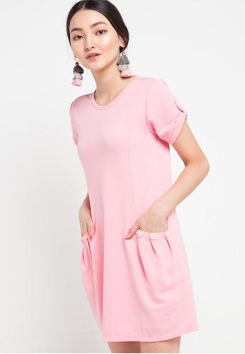 Miyoshi Josei pink Baby Pink Knitting Dress CA436AA7F6069FGS_1