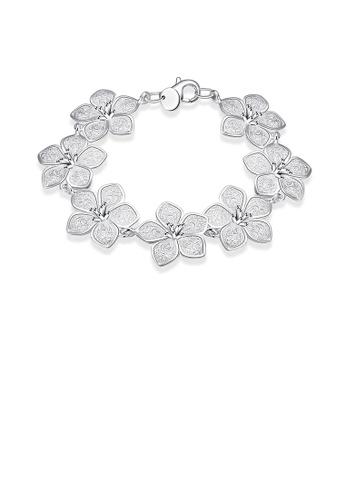 Glamorousky silver Elegant Flower Bracelet B0CDCAC293E110GS_1