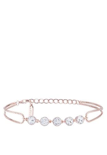 Mestige 粉紅色 水晶手環 28220AC07B563FGS_1