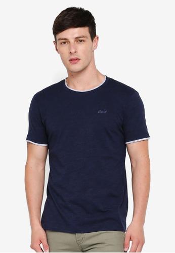 ESPRIT 海軍藍色 短袖T恤 A6E43AA78FDB4DGS_1