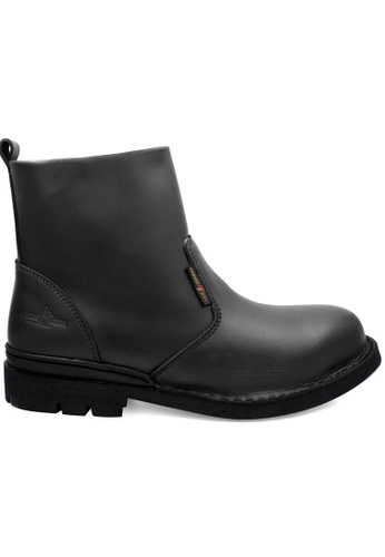 midzone black HAMMER KING Genuine Cow Leather Safety Boot MZHK13006 Black 9F8D2SH35947EFGS_1