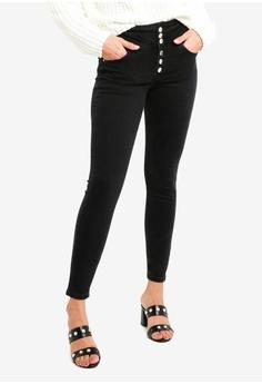 dd9b353495d Miss Selfridge black Lizzie Corset Button Through Jeans 9C9F8AAA172128GS 1