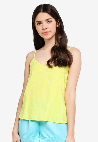 Supre yellow and multi Cotton Sleep Cami Top FB668AA3F9CDE9GS_1