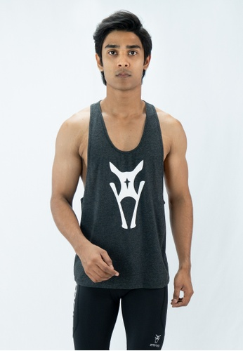 AMNIG AMNIG MEN MUSCLE SLEEVELESS TEE (Grey) AM133AA36TMLMY_1