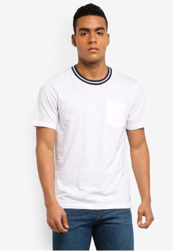 MANGO Man blue Pocket Cotton T-Shirt B1280AA66BB9B0GS_1