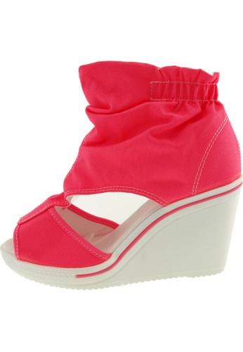 Maxstar Maxstar Women's 775 Open Toe Elastic Ankle Canvas Wedge Heel Sandals US Women Size MA168SH25BXMHK_1