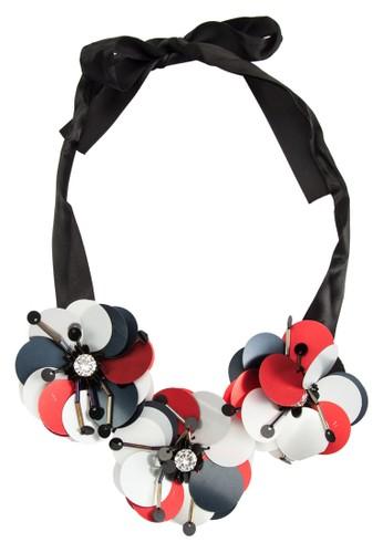 塑料立體尖沙咀 esprit花飾蝴蝶結繫帶項鍊, 飾品配件, 飾品配件