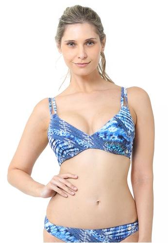 Sunseeker blue Water Colour DD/E Cup Bikini Top 45186US56BD9D4GS_1