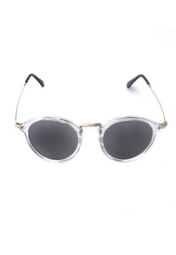 2i's to eyes white Sunglasses│Vintage Round White Frame│UV400 Protection│2is YovaII 98D65GL1578E3EGS_1