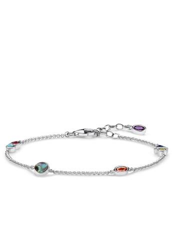 """THOMAS SABO silver bracelet """"Colourful Stones"""" 4F75BACC3427D5GS_1"""