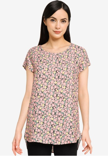 Vero Moda 粉紅色 Boca 短袖上衣 11E2CAA64735BFGS_1