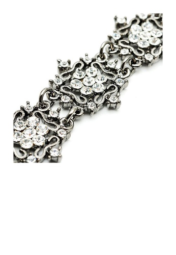 Glamorousky silver Antique Bracelet with Silver Austrian Element Crystals 7CAA2ACC4D8F33GS_1