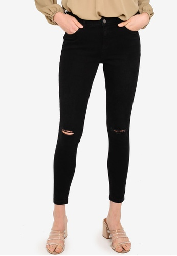148501e3041 Dorothy Perkins black Black Darcy Ripped Ankle Grazer Jeans  34452AA91334BBGS_1