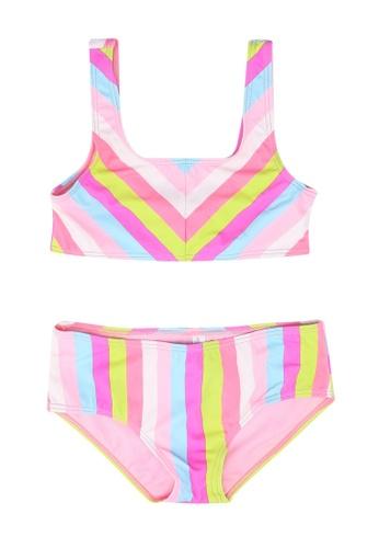 Shiwi pink and multi Girls Malibu Scoop Top Bikini 8BA92KAAC7FB74GS_1